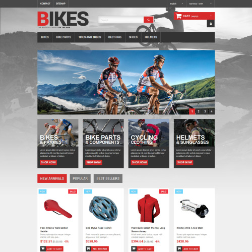 Bikes - PrestaShop Template based on Bootstrap