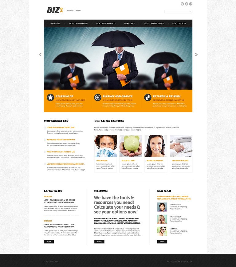 Biz 360 Joomla Template New Screenshots BIG