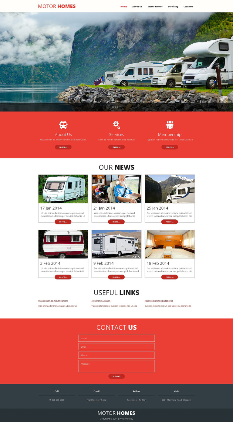 Camping Responsive Website Template New Screenshots BIG