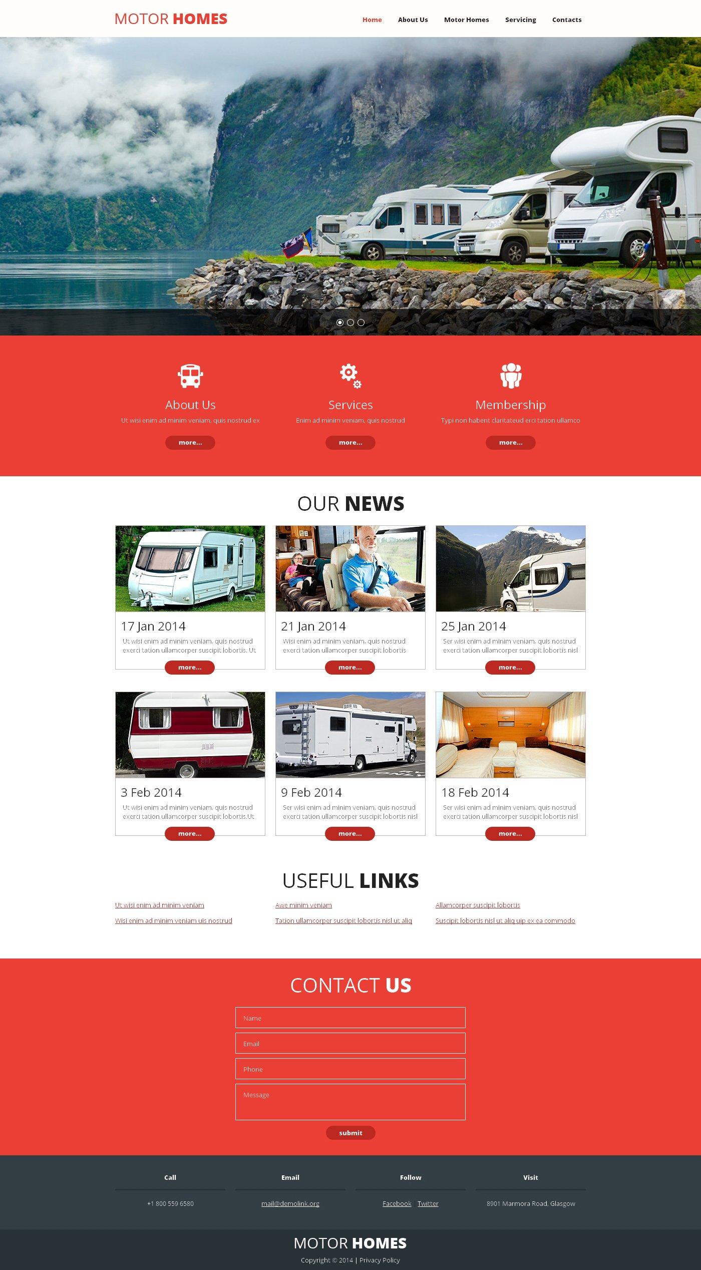 Camping Responsive Website Template #48901