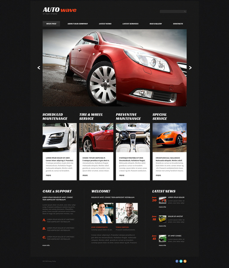 Car Repair Responsive Joomla Template New Screenshots BIG