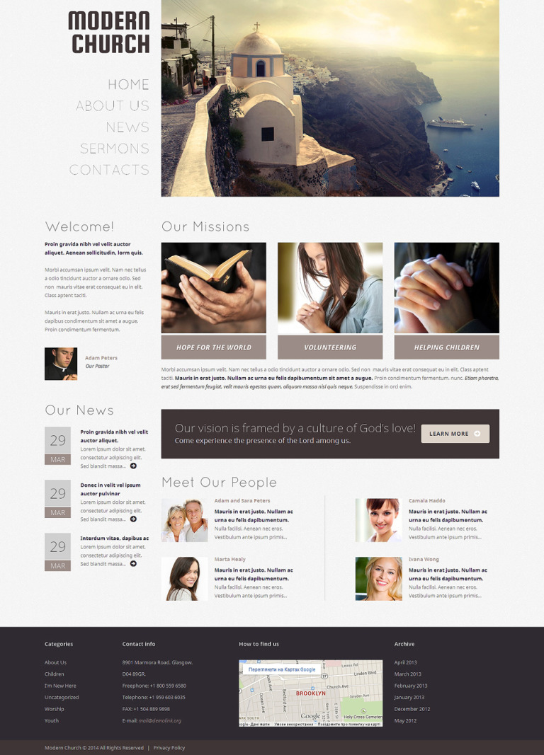 Christian Responsive WordPress Theme New Screenshots BIG