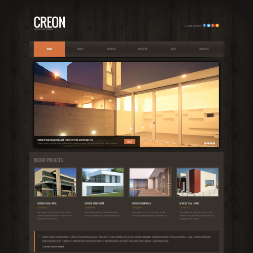 Creon - Construction Company WordPress Template based on Bootstrap