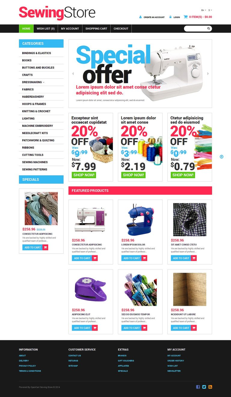Crafts Responsive OpenCart Template New Screenshots BIG