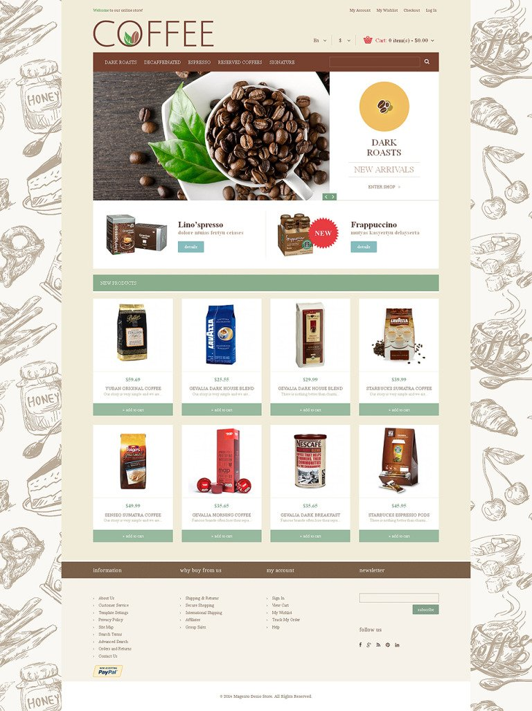 Cup of Coffee Magento Theme New Screenshots BIG