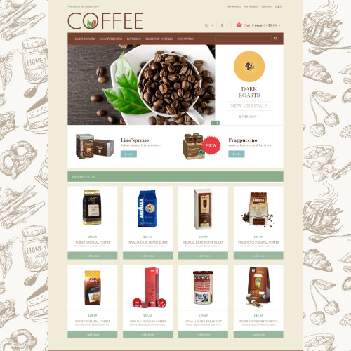 Coffee - Responsive Magento Template