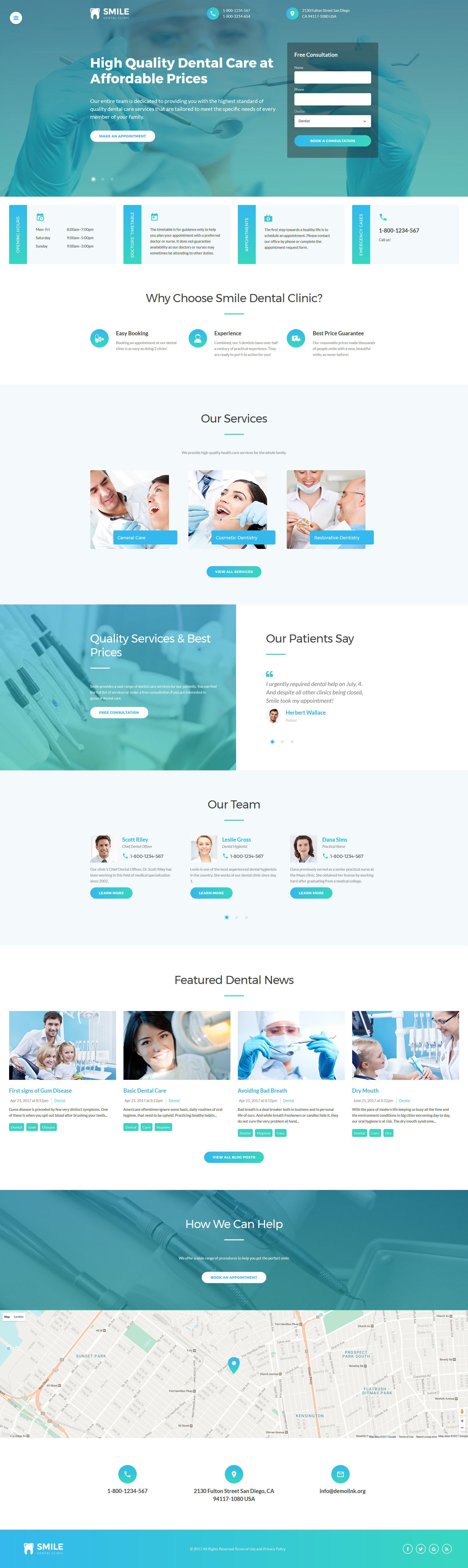 Dentistry Responsive Website Template - screenshot