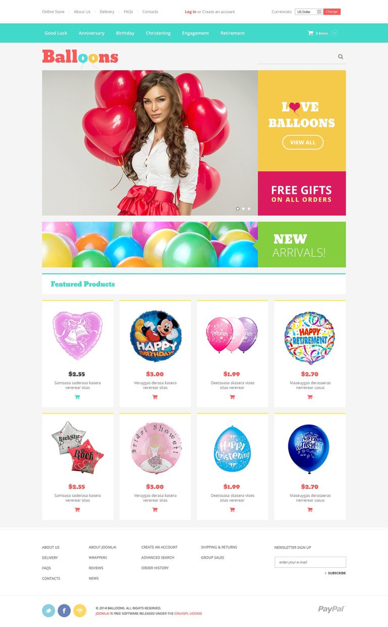 Event Planner VirtueMart Template New Screenshots BIG