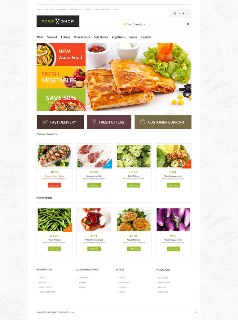 Food Store Responsive OpenCart Template New Screenshots BIG