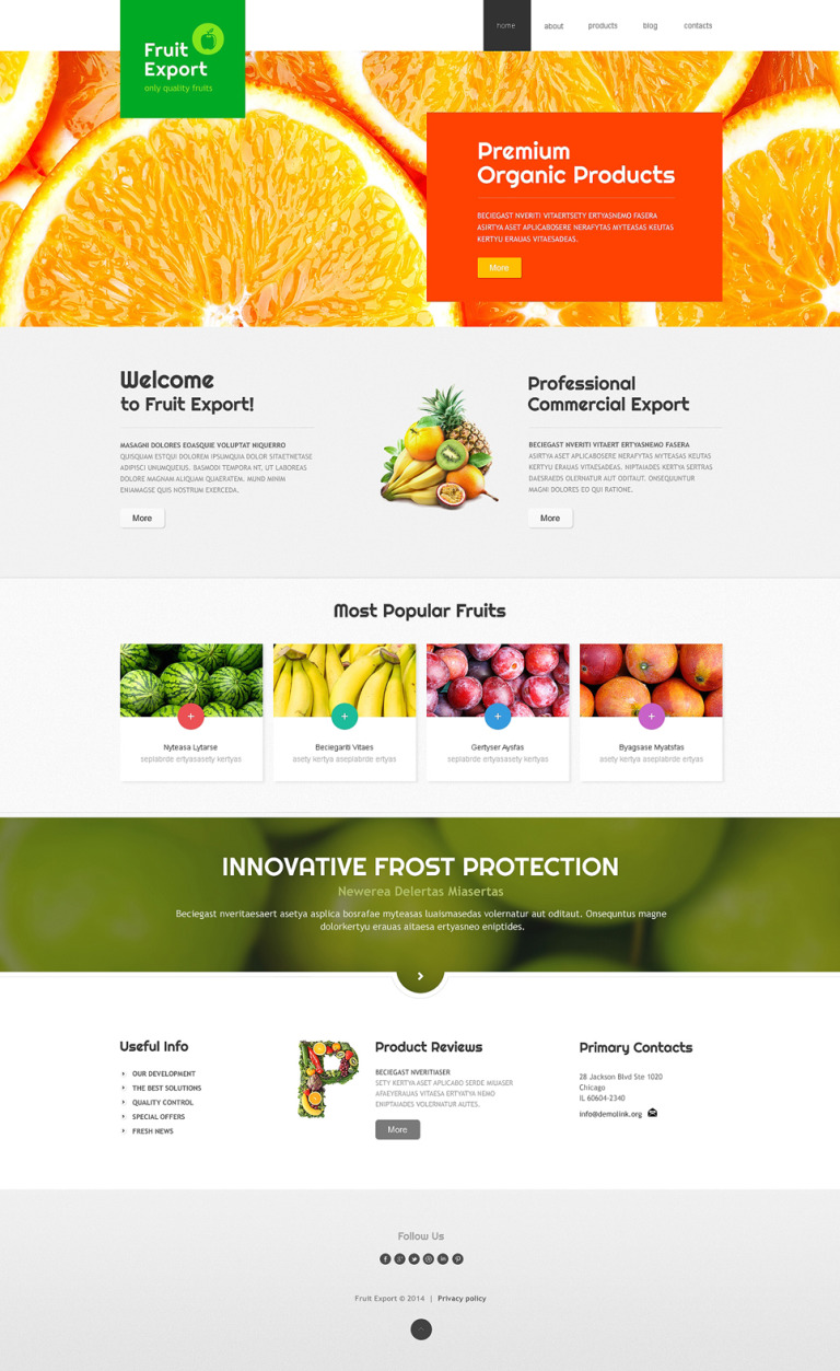 Fruit Export Joomla Template New Screenshots BIG