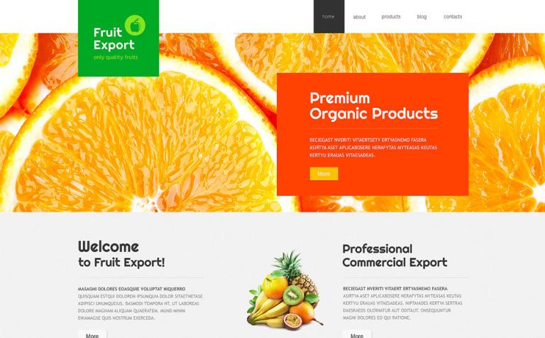 fruit export joomla template 48968