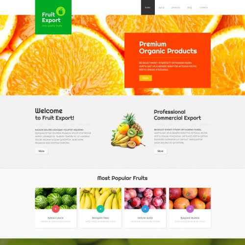 Fruit Export - Joomla! Template based on Bootstrap