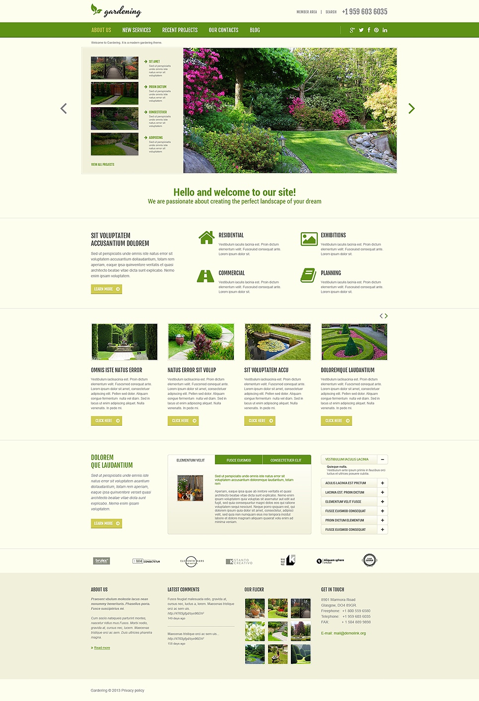 garden design responsive joomla template 48960. Black Bedroom Furniture Sets. Home Design Ideas