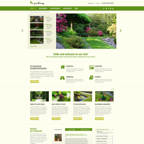 Gardening - Joomla! Template based on Bootstrap