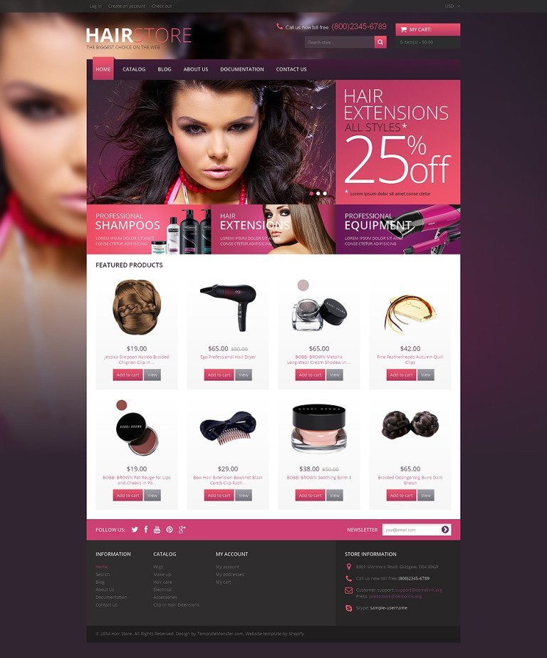 Hair Salon Responsive Shopify Theme New Screenshots BIG