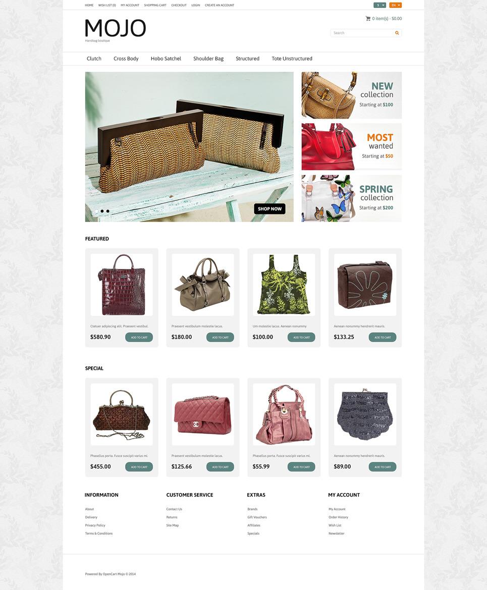 Handbag Responsive OpenCart Template New Screenshots BIG
