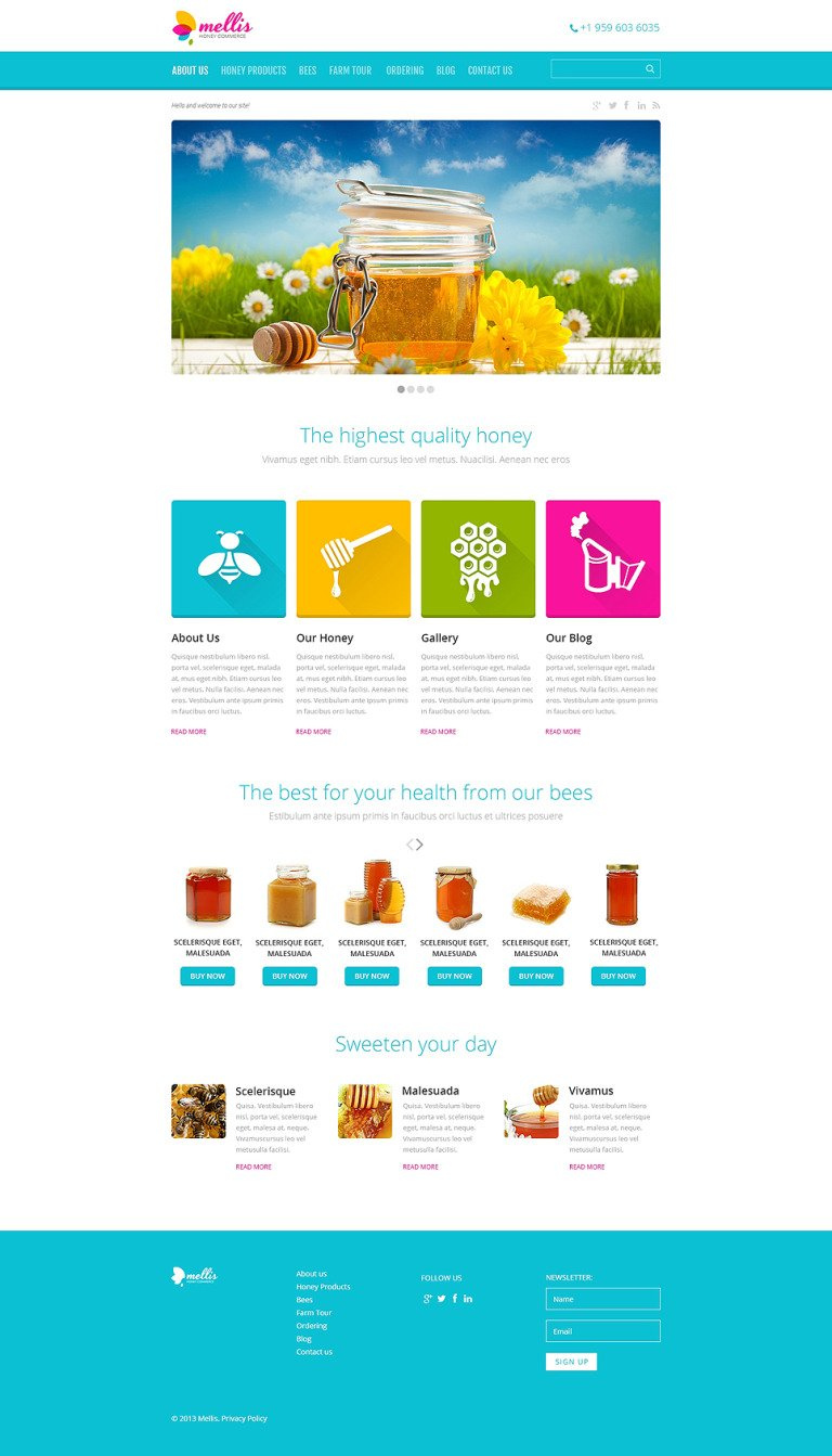 Honey Store Responsive WordPress Theme New Screenshots BIG