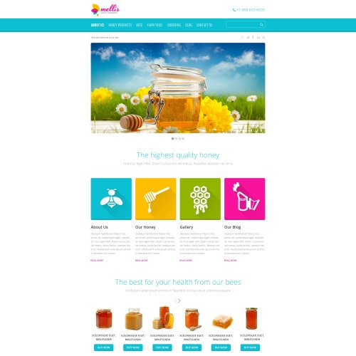 Mellis - WordPress Template based on Bootstrap