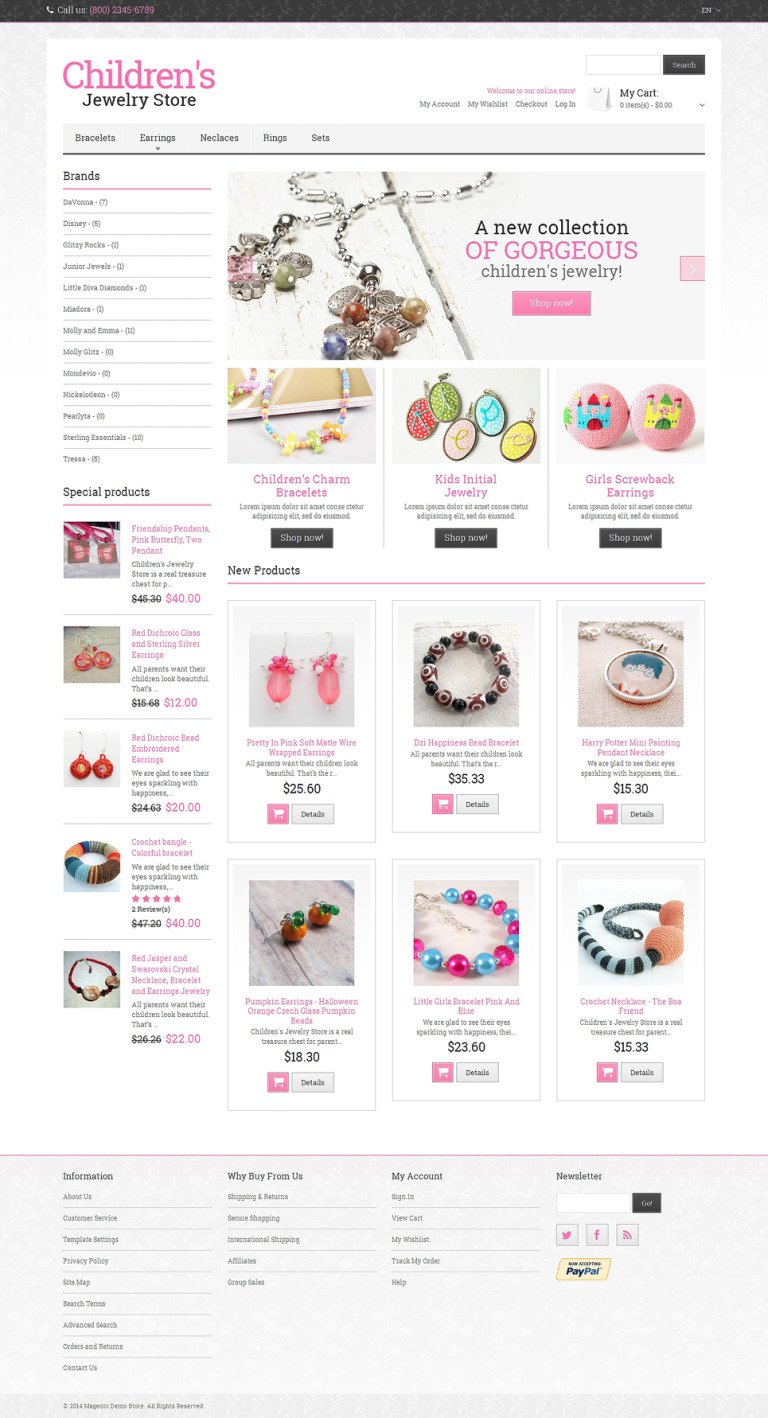 Jewelry Responsive Magento Theme New Screenshots BIG