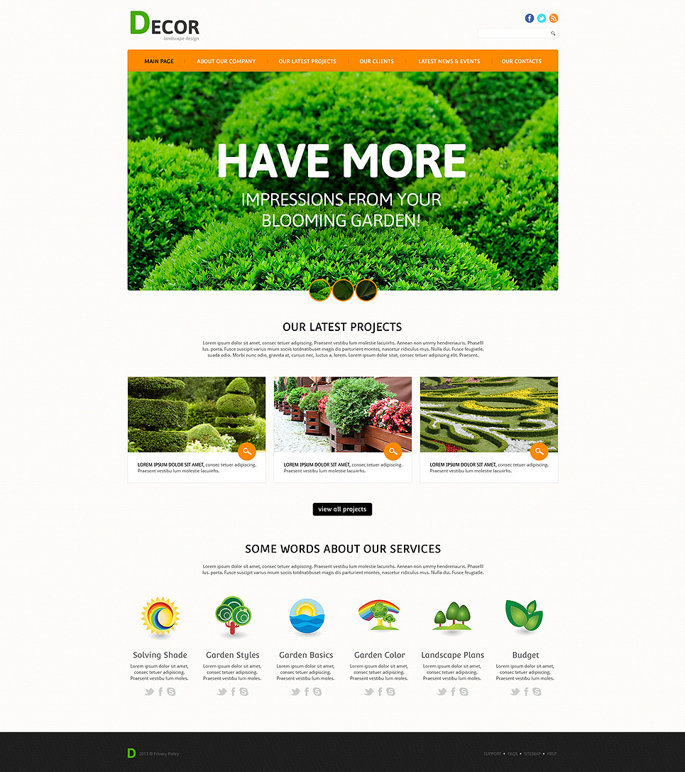 Landscape Dcor Guru Joomla Template New Screenshots BIG