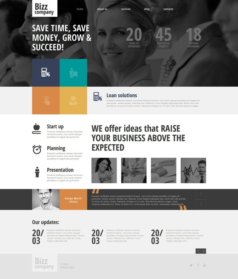 Merchant Services Responsive Joomla Template New Screenshots BIG