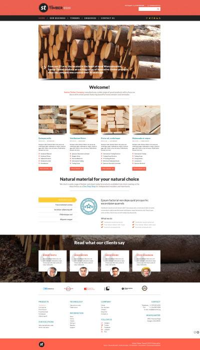 Modèle Web adaptatif  pour magasin  de bois
