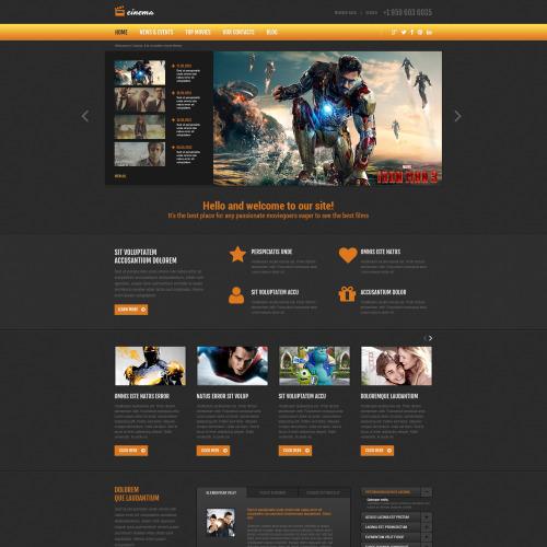 Cinemas - Joomla! Template based on Bootstrap
