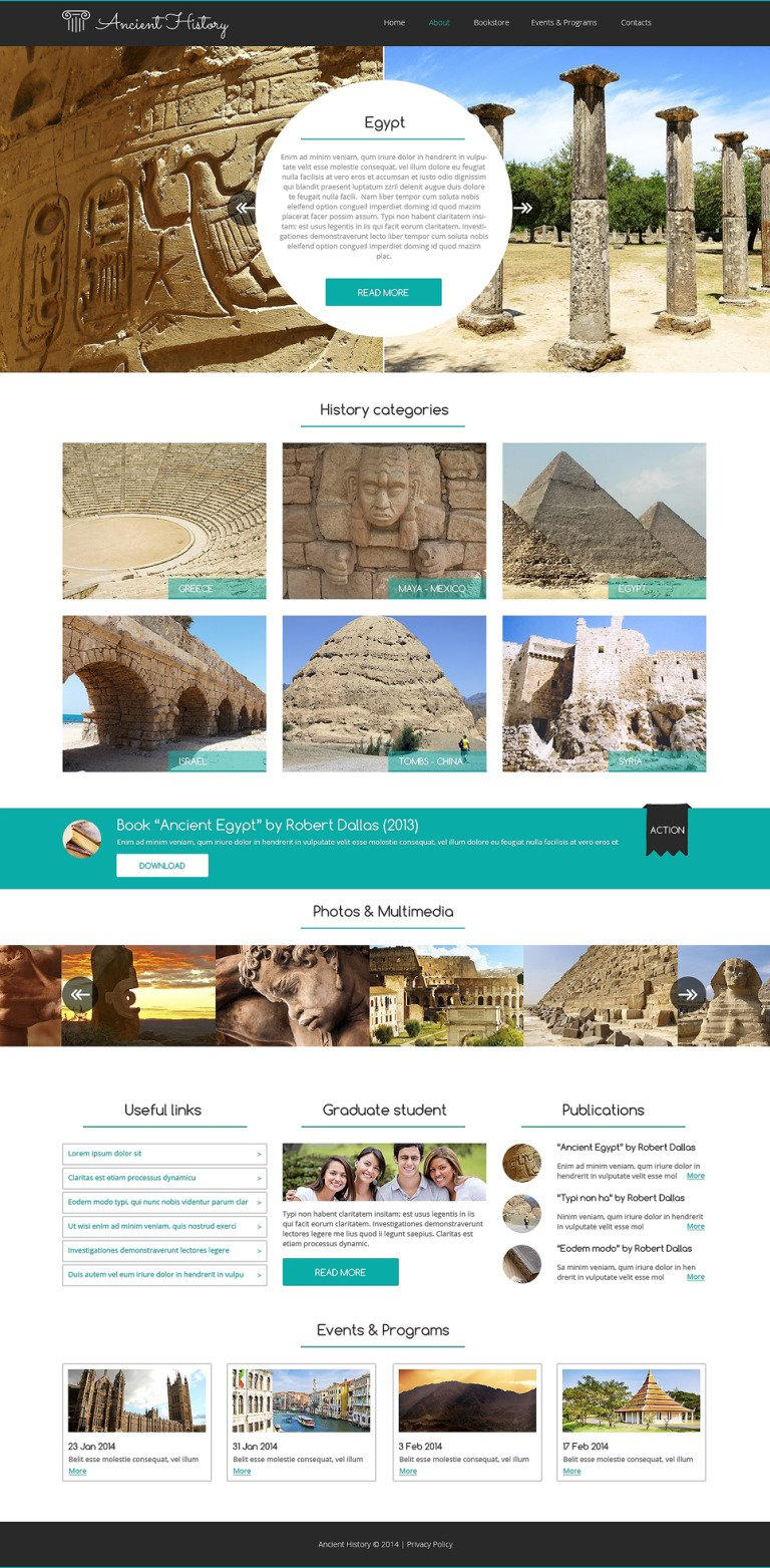Museum Responsive Website Template New Screenshots BIG