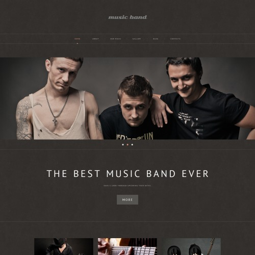 Music Band - WordPress Template based on Bootstrap