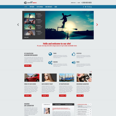 News Joomla Theme - News website design template
