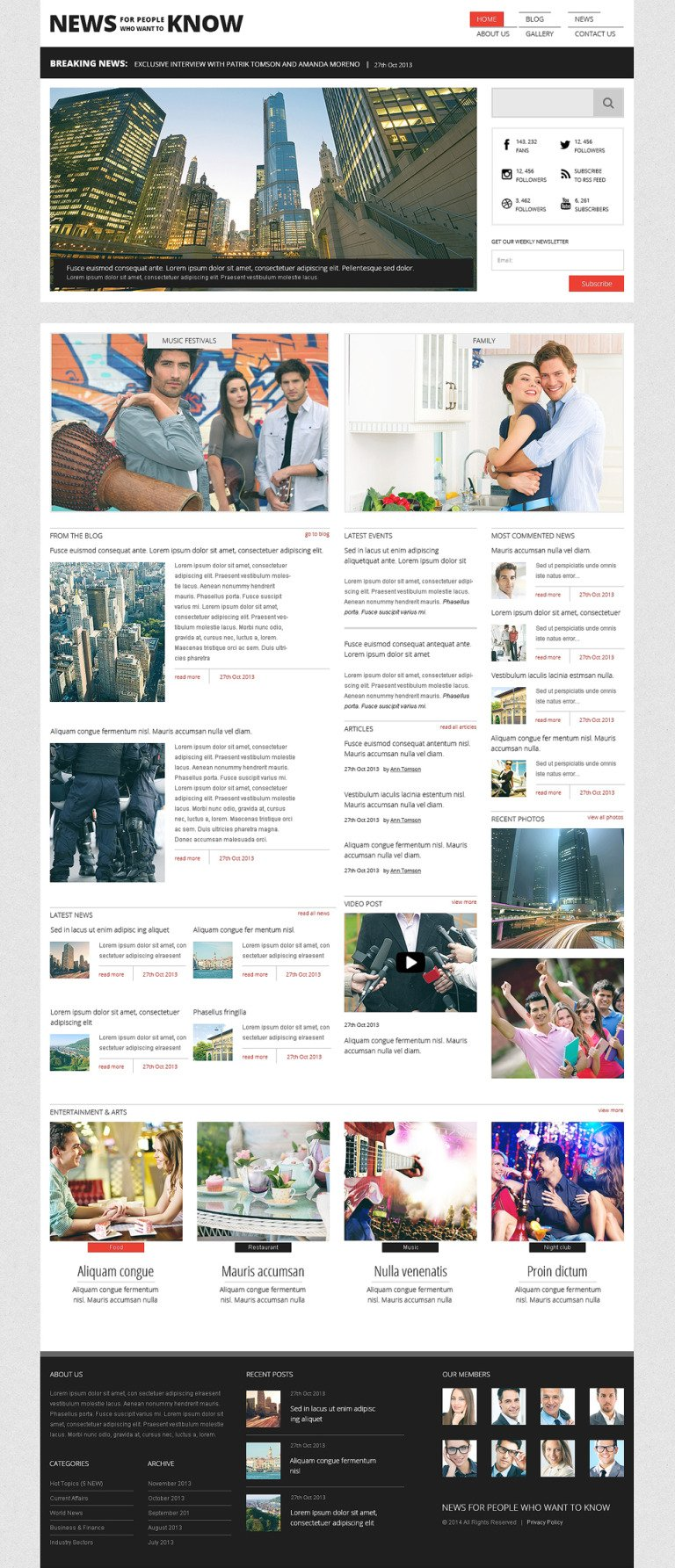 News Portal Responsive Joomla Template New Screenshots BIG