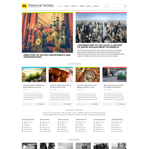 Historical Society - WordPress Template based on Bootstrap