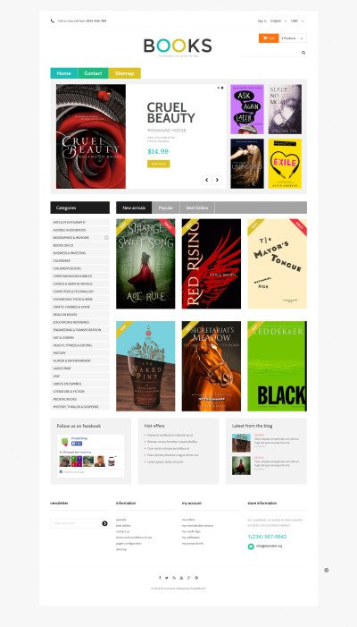 Online Bookstall PrestaShop Theme #48977