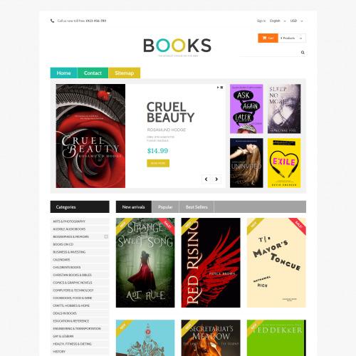 Books - PrestaShop Template based on Bootstrap