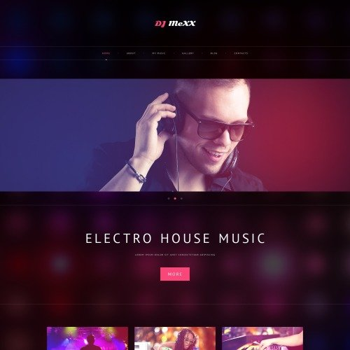 Dj Mexx - WordPress Template based on Bootstrap