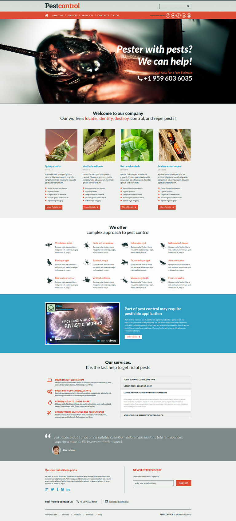 Pest Control Responsive Joomla Template New Screenshots BIG