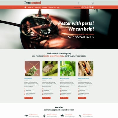 pest control bootstrap themes templatemonster