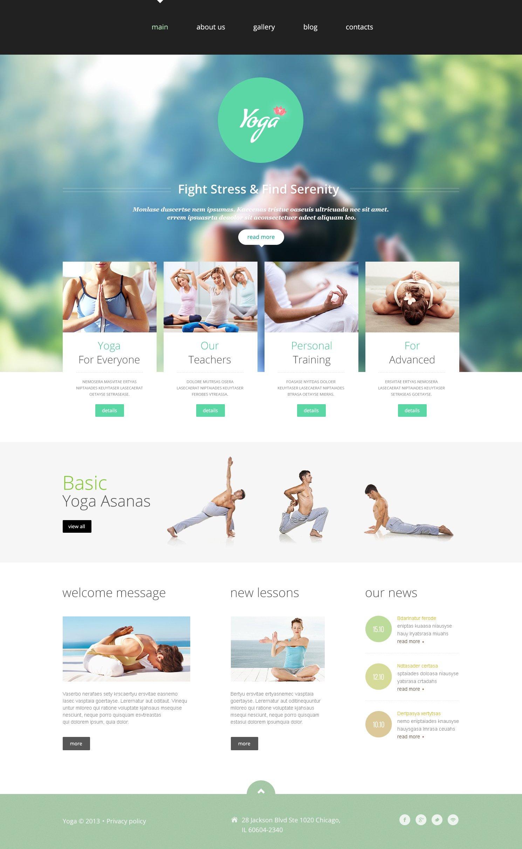 Plantilla Joomla #48967 para Sitio de Yoga