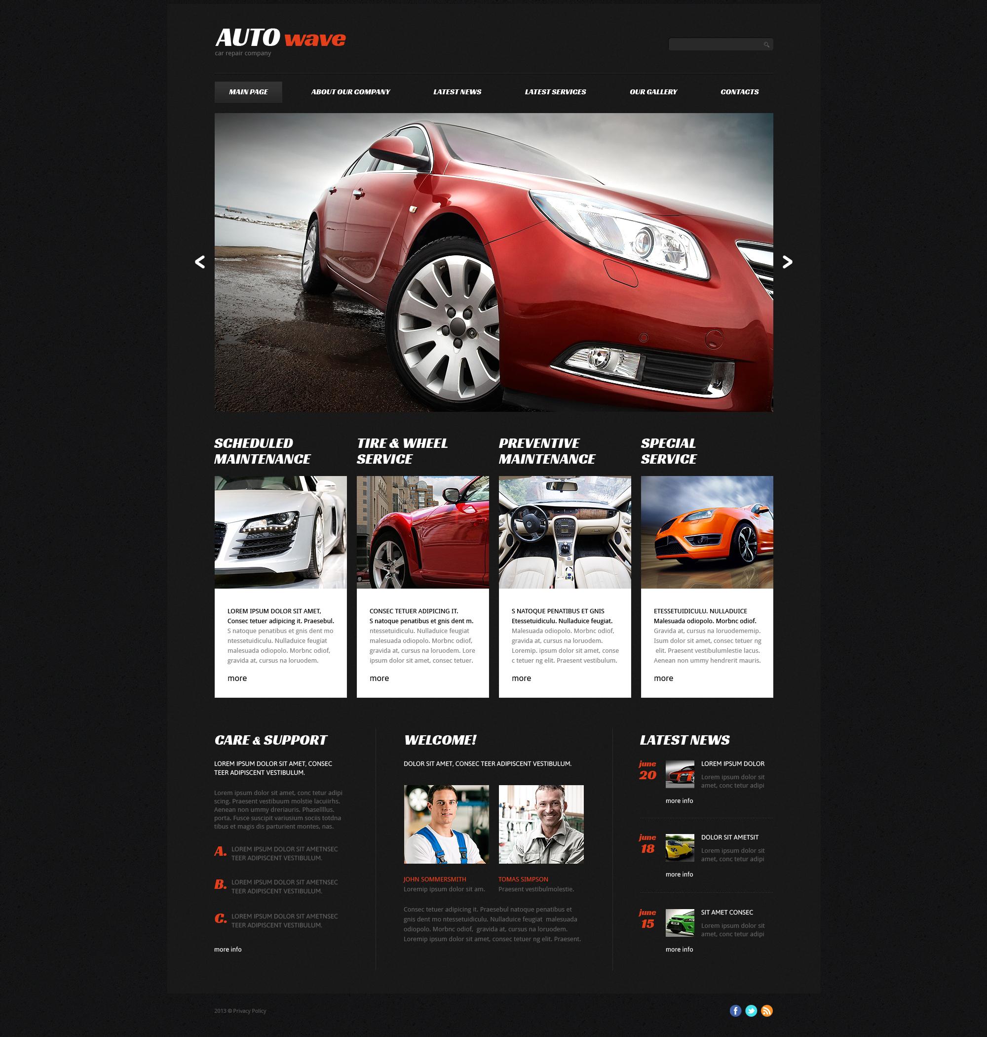 Plantilla Joomla Responsive para Sitio de Reparación de coches #48970