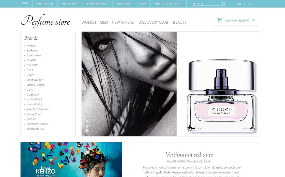 "Plantilla OpenCart ""Tienda de Perfumes"" New Screenshots BIG"