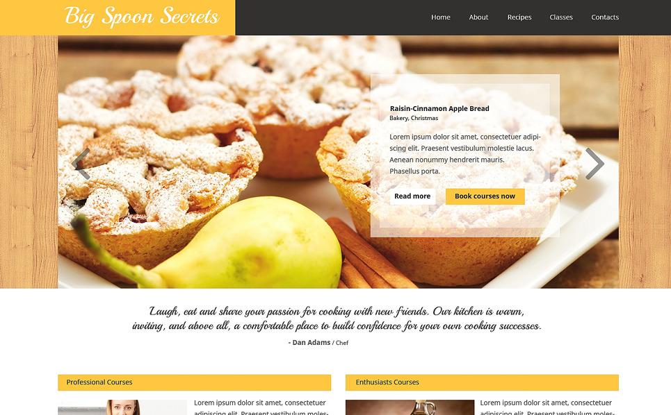 Plantilla web 48909 para sitio de cocina for Plantillas de cocina