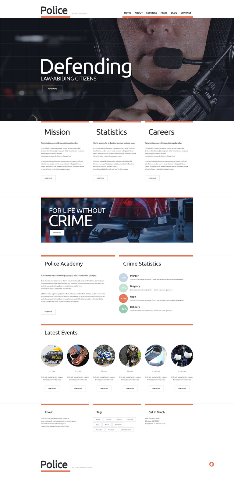 Police Responsive Website Template New Screenshots BIG
