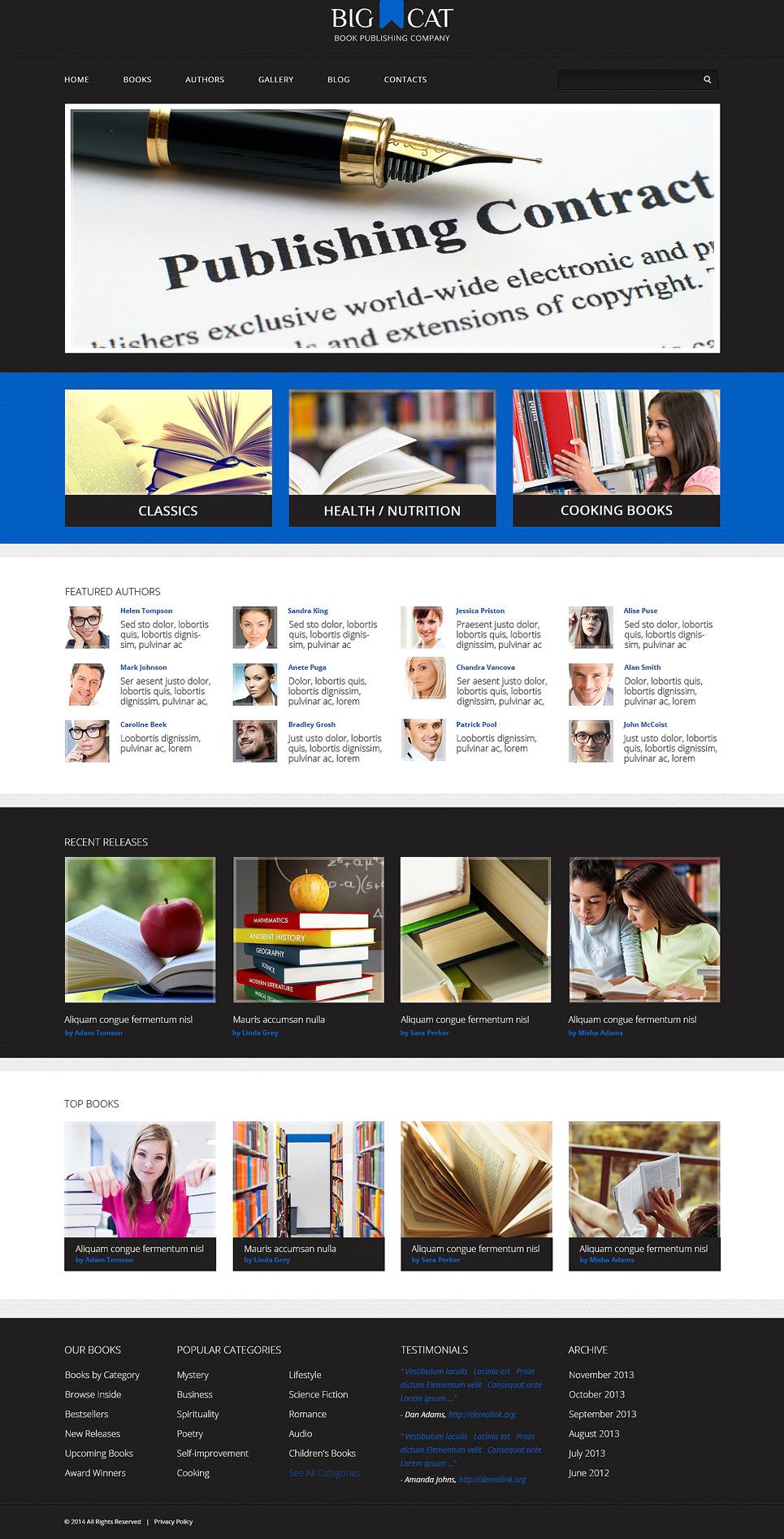 Publishing Company Responsive WordPress Theme New Screenshots BIG
