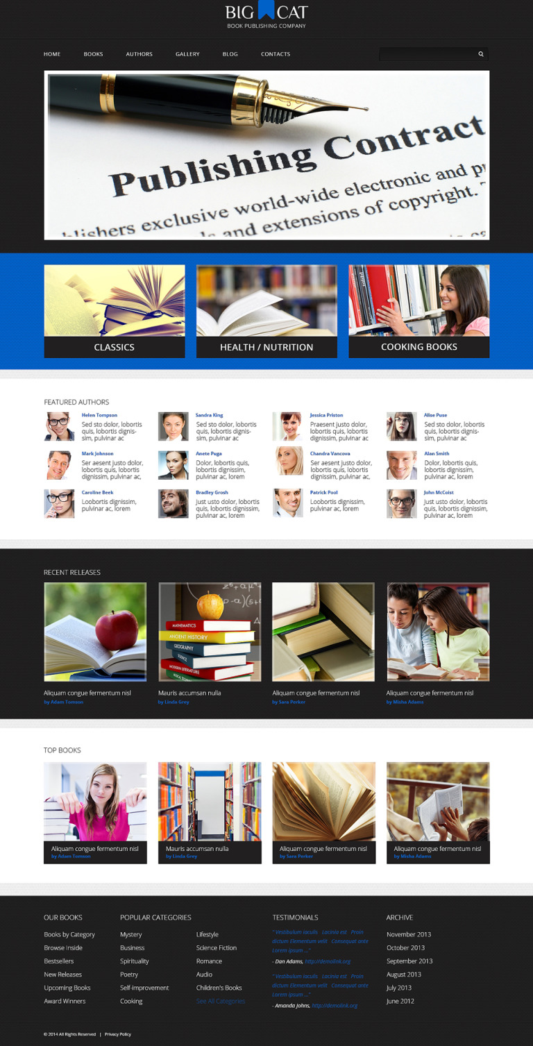 Publishing Company Responsive WordPress Theme New Screenshots BIG