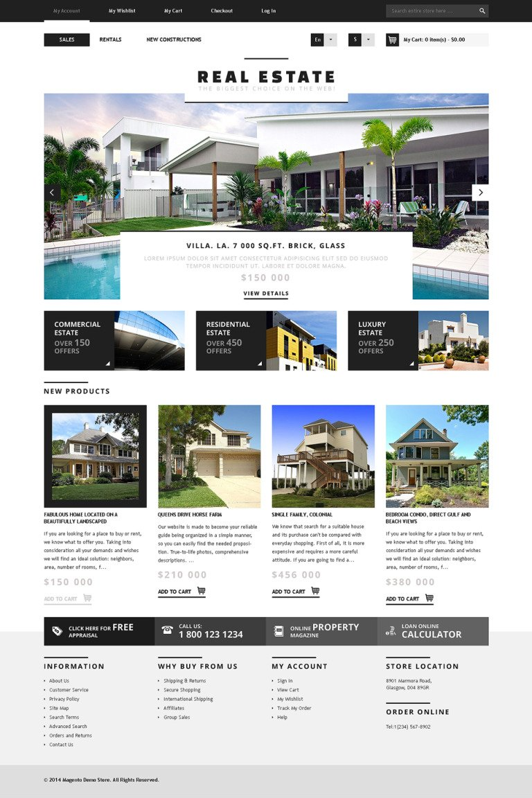 Real Estate Agency Responsive Magento Theme New Screenshots BIG
