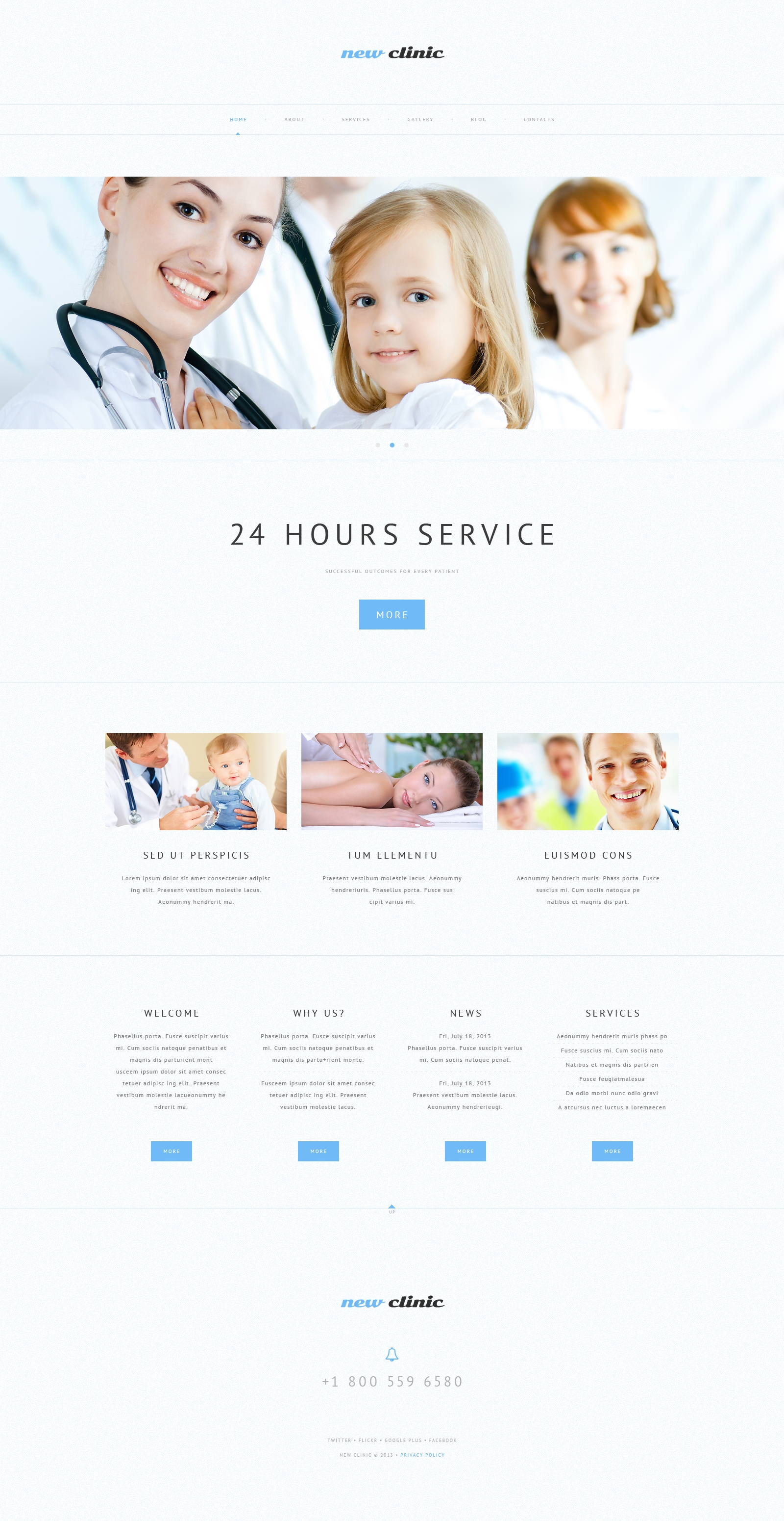Responsive WordPress thema over Medische №48978 - screenshot
