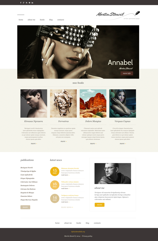 Responsive WordPress thema over Persoonlijke pagina №48924 - screenshot
