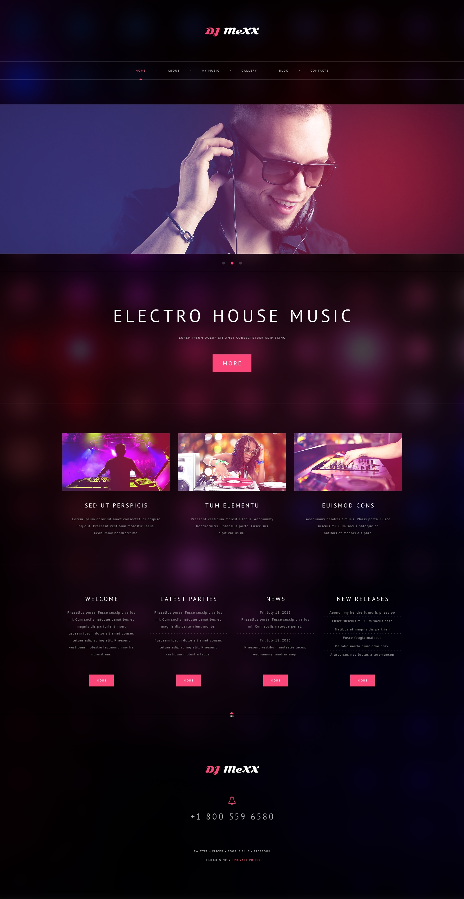 Responsives WordPress Theme für Musik Homepage #48979 - Screenshot