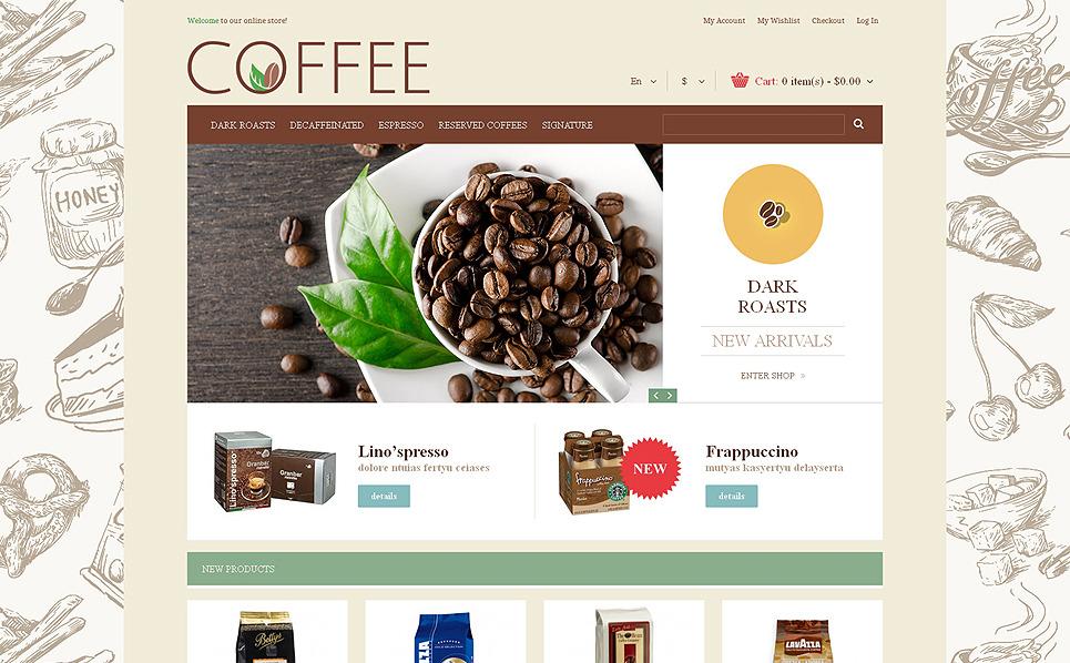 Responsywny szablon Magento #48938 na temat: sklep z kawą New Screenshots BIG
