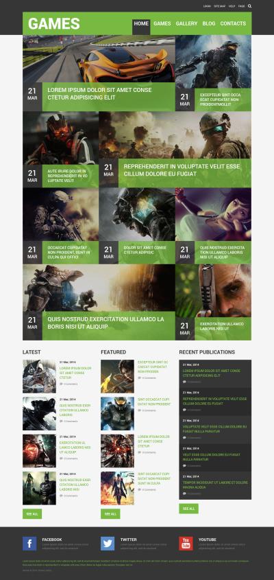 Game Portal Responsive Joomla šablona